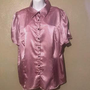 Cato polka dotted blouse size 22/24W, 💯polyester